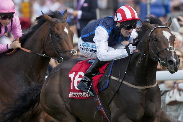 Moviesta winning the Group 2 King George Stakes at glorious Goodwood